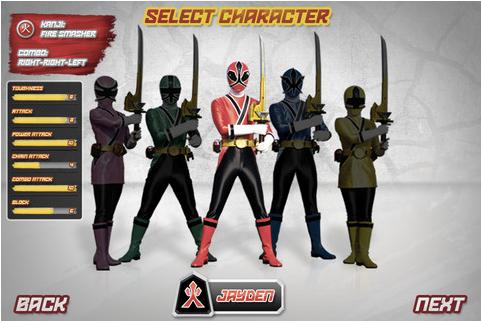 Power Rangers Samurai Steel juego basado en la mitica serie de TV