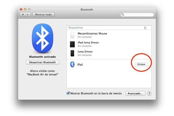 compartir conexion mac con ipad 5