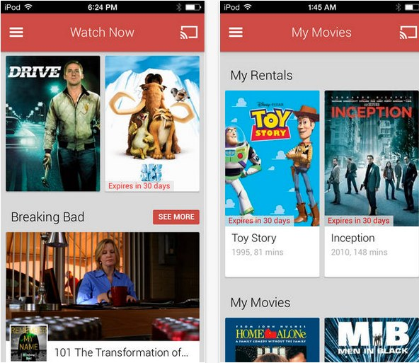 google play movies ios